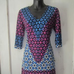Donna Morgan Geometric Dress - Size 4